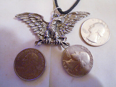 bling pewter bald eagle fashion military SPORTS pendant charm necklace JEWELRY