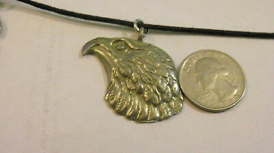 bling pewter bald eagle MILITARY FASHION pendant charm hip hop necklace JEWELRY