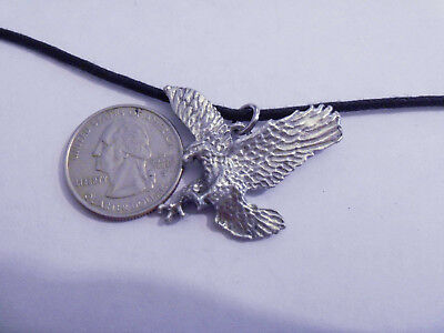 bling pewter bald eagle fashion jewelry military pendant charm hip hop necklace