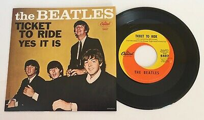 The Beatles / Ticket To Ride & Yes It Is / RSD 2011 45 w/ Picture Sleeve / MINT