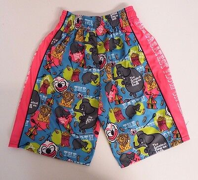 Youth X Small Circus  Mesh Athletic Shorts Blue Flow Society