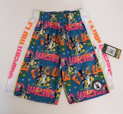 Youth X Small Wizard Flow  Mesh Athletic Shorts Teal Flow Society