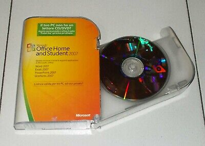 Microsoft OFFICE HOME AND STUDENT 2007 OTTIMO italiano BOX Pc