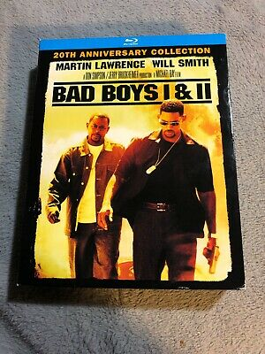 Bad Boys / Bad Boys II (Blu-ray Disc, 2015, 2-Disc Set, ) Action 90s Movie