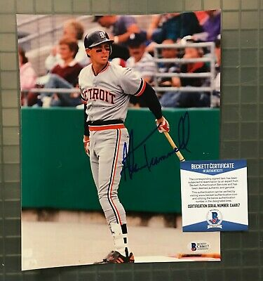Alan Trammell Autographed Signed 8x10 Photo Picture Baseball Tigers Beckett Coa Wholesale Lots