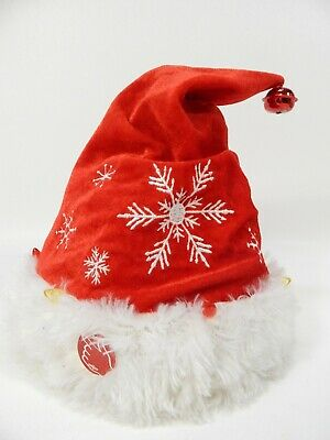 16d7c0ae09d19 DanDee Musical ANIMATED Hat Snowflake Have A Holly Jolly Christmas LIGHTS  SOUND