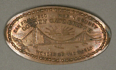 Elongated Cent 1937 Golden Gate Bridge SAN FRANCISCO Martin & Dow CAL-GGB #5