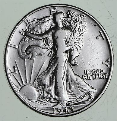 Strong Feather Details - 1942 Walking Liberty Half Dollars - Huge Value *554