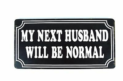 Hand Carved Wife My Next Husband Will Be Normal Wood Tiki Beer Sign Bar Man Cave