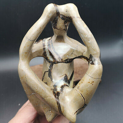1.41LB   Western Art Deco Handmade Sculpture Thinker Meditator