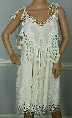 6bceb0fb50fff2 Chloe Spring 2016 Butterfly Eyelet Embroidered Milk Tulle Dress US 0 2 / FR  34