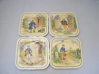"Alfred Meakin DICKENS CHARACTER Set of 4-5"" Bread Dessert Plate Each Different"
