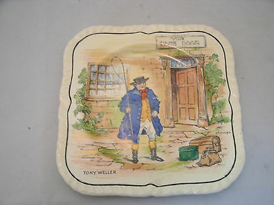 "Vintage Alfred Meakin DICKENS CHARACTER 5 1/4"" Bread Dessert Plate TONY WELLER"