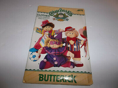"Butterick 4076 16"" Cabbage Patch Kids Doll Clothes Pattern  Uncut New"