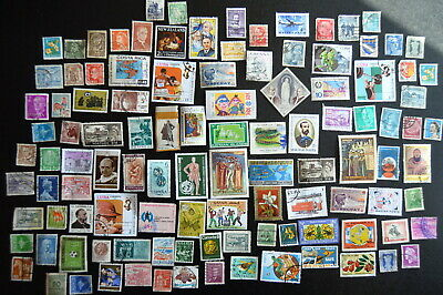 Lot of 100+  Assorted WORLD MIXED STAMPS  No Dupes  VG   philatelist collection