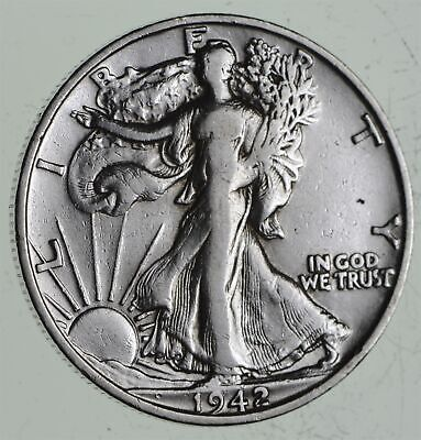 Strong Feather Details - 1942-S Walking Liberty Half Dollars - Huge Value *550