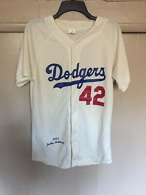 32a82d4b6 Jackie Robinson 42 Los Angeles Dodgers Stadium Giveaway Fan Baseball Jersey  M
