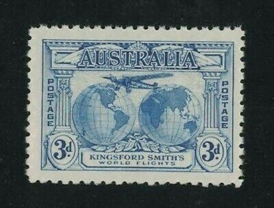 1931 Australia Kingsford Smith's World Flights SG 122 3d blue MUH