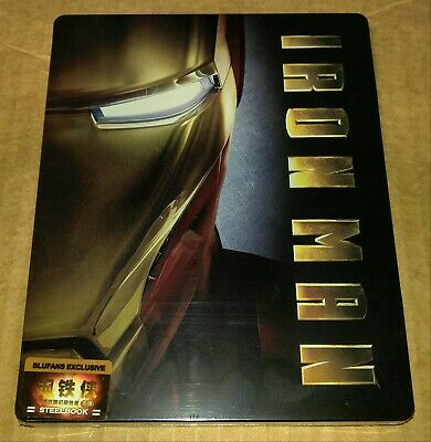 New Iron Man Empty V1 Steelbook™ Blufans Exc China (no Blu-ray disc) *ding*
