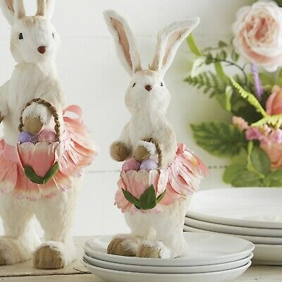 NEW!~RAZ Imports~Easter Cabbage Vase w// White Bunny Rabbit~Candy Dish//Container
