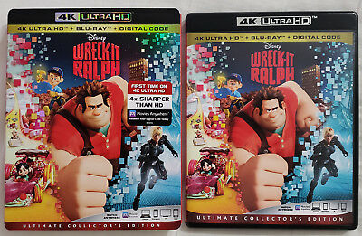 WRECK-IT RALPH (2012) 4K Ultra HD Blu-ray Ultimate Collector's Edition 2-Disc