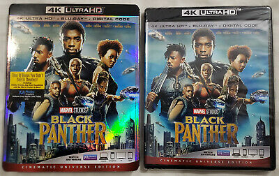 BLACK PANTHER (2018) 4K Ultra HD Blu-ray Cinematic Universe Edition 2-Disc Set