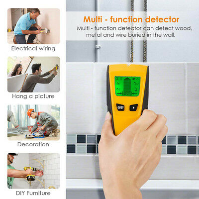 3 in 1 Multi-Function LCD Wall Detector Stud Center Finder AC Live Wire Detector