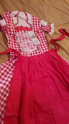 Girls,Kids,size 11,Germany,German,Trachten,May,Oktoberfest,Dirndl,2-pc.RED