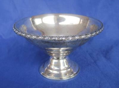 "La Pierre Antique Sterling Silver 1 Weighted Small Bon Bon Candy Dish 2.5"" #146A"
