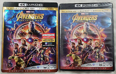 AVENGERS: INFINITY WAR 4K Ultra HD Blu-ray Cinematic Universe Edition 2-Disc Set