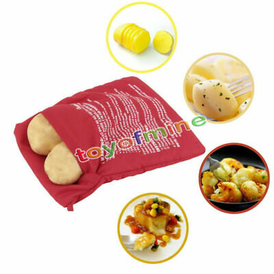 Microwave Baked Potato Cooking Bag Potato Express Washable Cooker Fast 4 Minutes