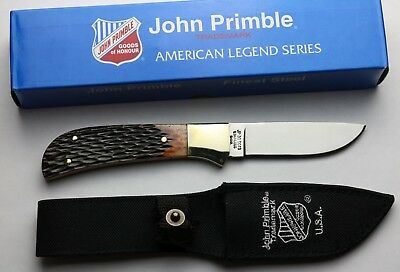 John Primble Fixed Blade Knife - Jigged Bone - New In Box
