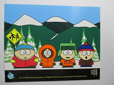South Park Sticker of Cartman, Kenny, Kyle and Stan Old Original 5 x 4 inches