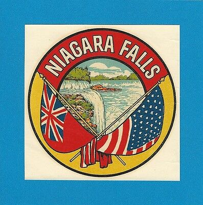 niagra falls retro american bumper luggage sticker  180mm