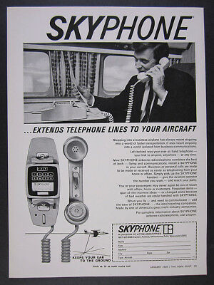 1969 SKYPHONE Airplane Aircraft Telephone litton industries vintage print Ad