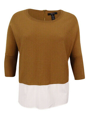 Top Size 3X Plus Style/&Co$58 NWT Camel Salty Nut Layered-Look Long Tunic BL