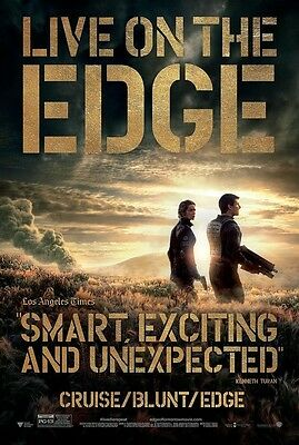 Edge of Tomorrow Original D/S Tom Cruise Emily Blunt Movie Poster 27 x 40 Adv