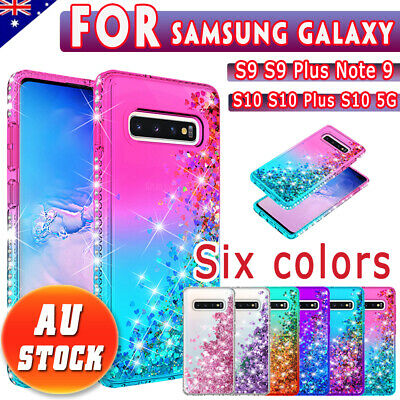 For Samsung Galaxy S9 S10 5G Plus + Note 9 Shockproof Cover Luxury Bling Case