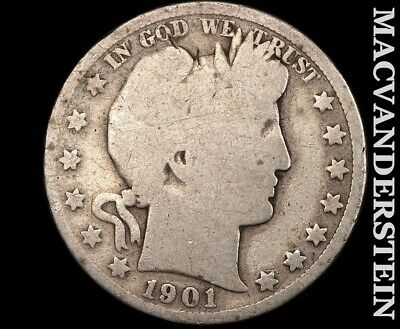 1901 Barber Half Dollar-Scarce Better Date!!  #d8988