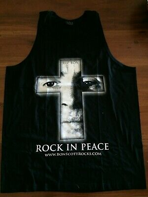BonScott AC/DC Mens Singlet Limited Edition CLEARANCE Limited Quantities