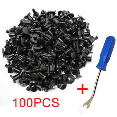 100Pcs Car Body Trim Clips Retainer Bumper Rivets Screw Panel Push Fastener Kit
