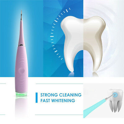 Portable Electric Sonic Dental Calculus Remover Scaler Tooth Stains Tool EC