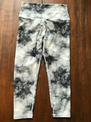 8816dfe89b Scorpio Sol Yoga Legging Crop Pant Women's Small Black White Camo Storm  Pattern