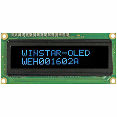 Winstar WEH001602ABPP5N00000 16x2 OLED Blue Characters On Black Background