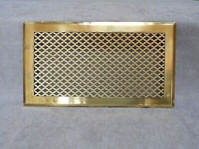 """FRENCH LARGE Vintage BRASS HEATING GRATE VENT 13.60"""" L"""