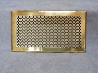 "FRENCH LARGE Vintage BRASS HEATING GRATE VENT / 13.60"" L"