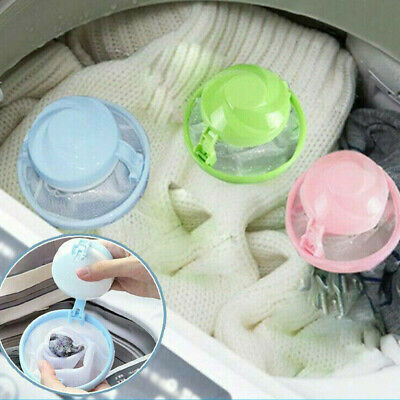 3x Floating Pet Fur Catcher Reusable Hair Remover Tool for Washing Machine Bag g