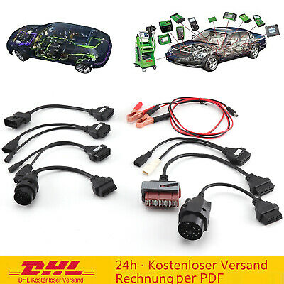 KFZ Profi Diagnosegerät Bluetooth OBD OBD2 Diagnose Scanner mit 8 Adapterkabel