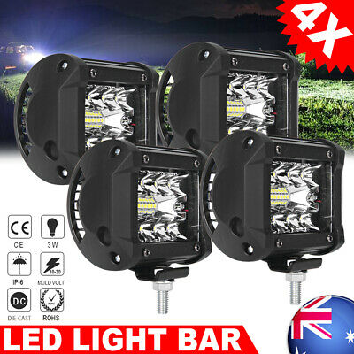 4x LED CREE Work Light Bar SPOT FLOOD Car Offroad 3Row Fog Lamp 4WD 24V 12V 200W