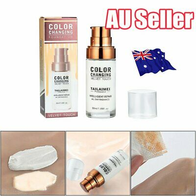 TML Colour Changing Foundation Makeup Base Nude Face Liquid Cover Concealer J6